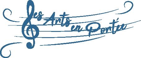 logo les arts en portée avec clé de sol
